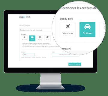 Interface, sélectionnez les critères de votre projet
