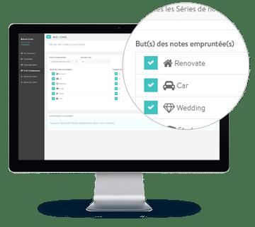 Interface, critères d'investissement, rénovation, véhicule, mariage