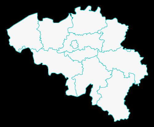 Kaart van Belgie