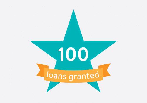 100 loans granted