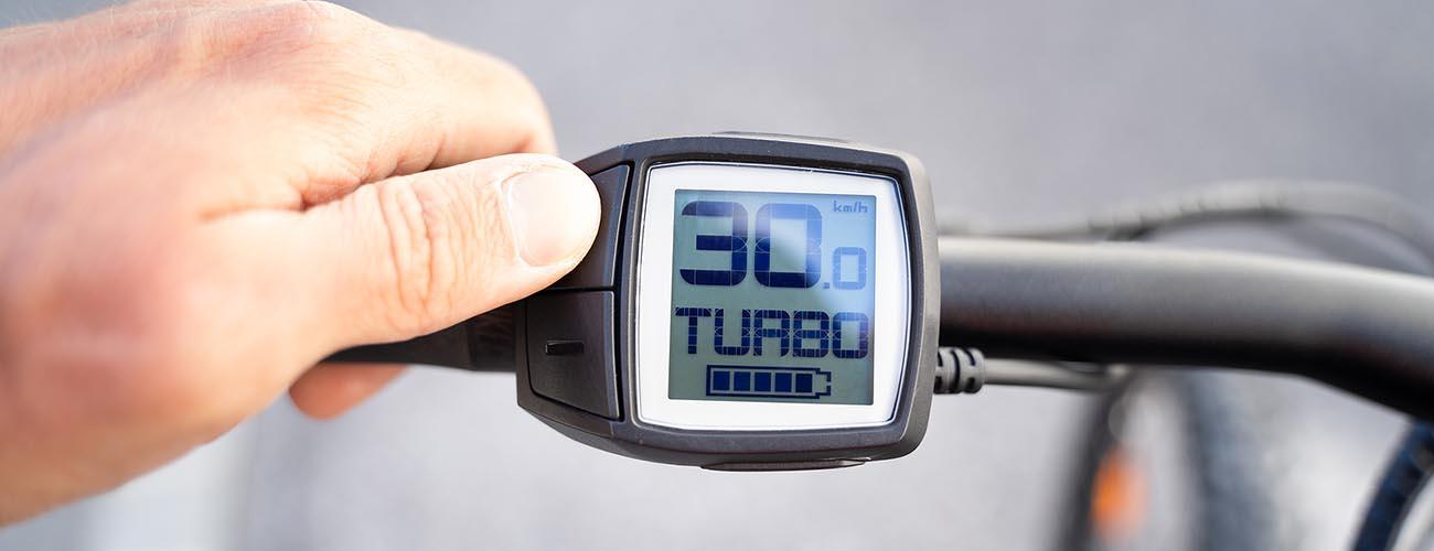 Compteur vitesse d'un vélo électrique