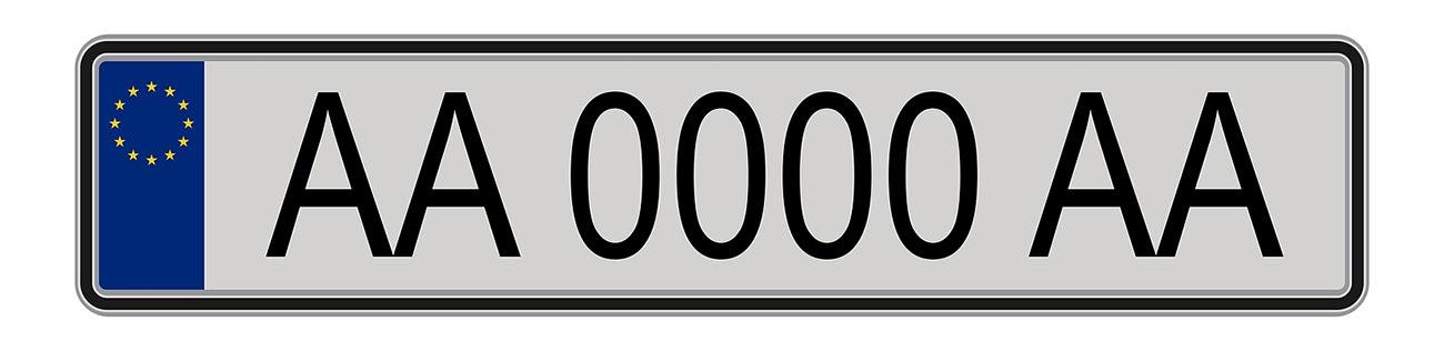 Europese nummerplaat