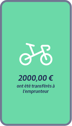 2000€ ont été transférés à l'emprunteur