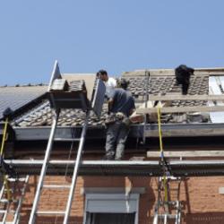 Le toit de Michel Guillaume en pleine rénovation !